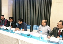 Hon.ble Custodian Shri P.S.Upadhyay and General Manager Shri V.M.Chaudhari of the Bank's representative participate in Meeting